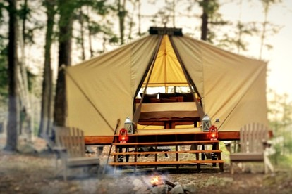 Luxury Tent and Tipi Camping near Woodstock, Vermont