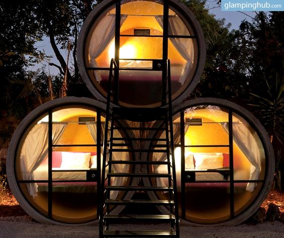 Glamping Near Mexico City Eco Pods Tube Pipe Hotel Mexico