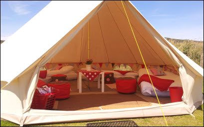 Beautiful Tents In Pembrokeshire Wales Uk Wales Glam Camping