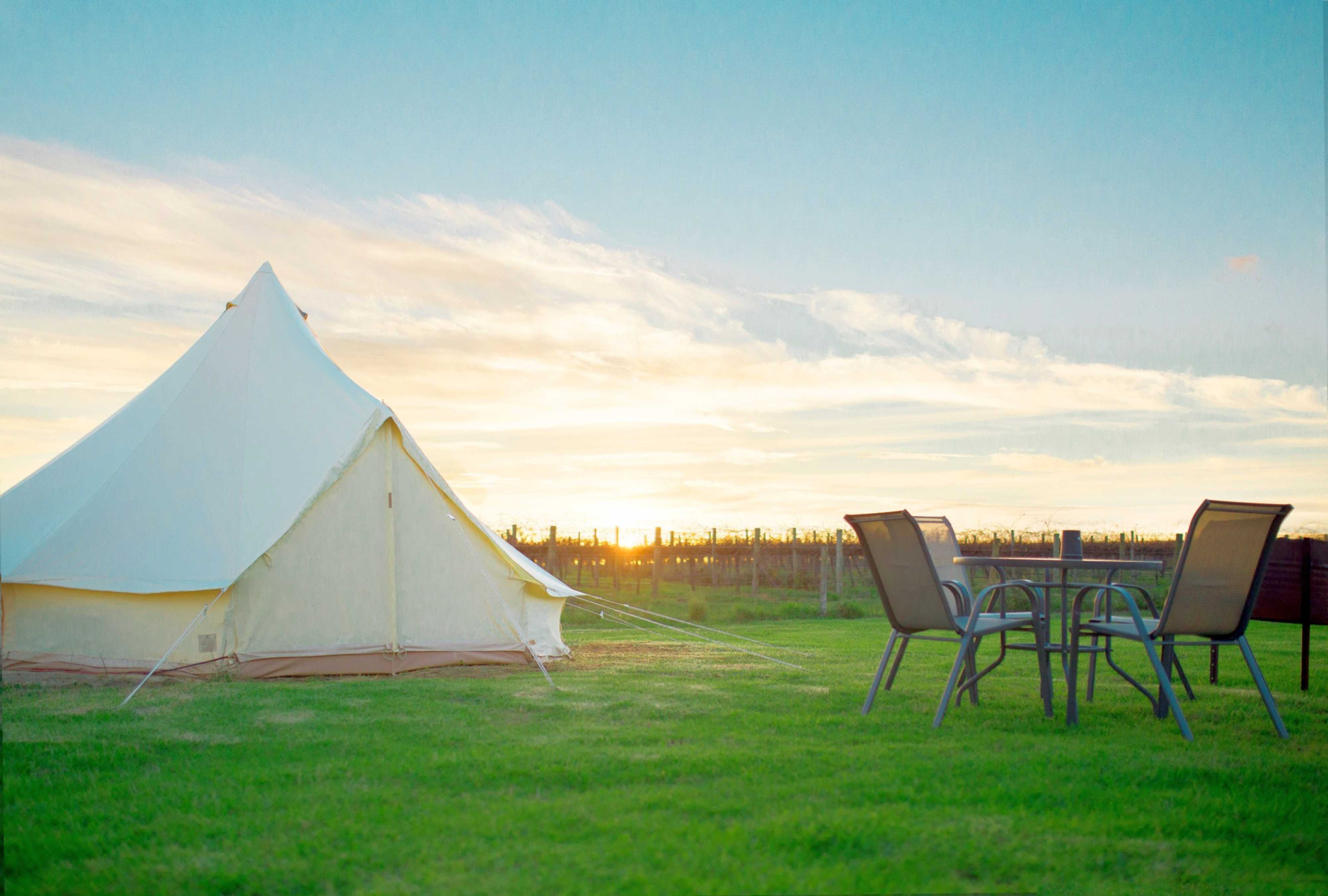 Cozy Bell Tent Rental On Campsite Near Coonawarra South