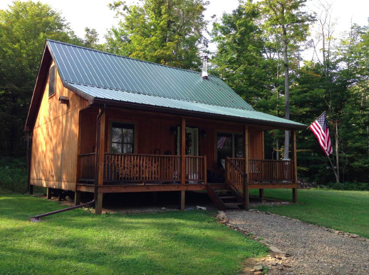 Upscale cabin in new york for Cabins new york state
