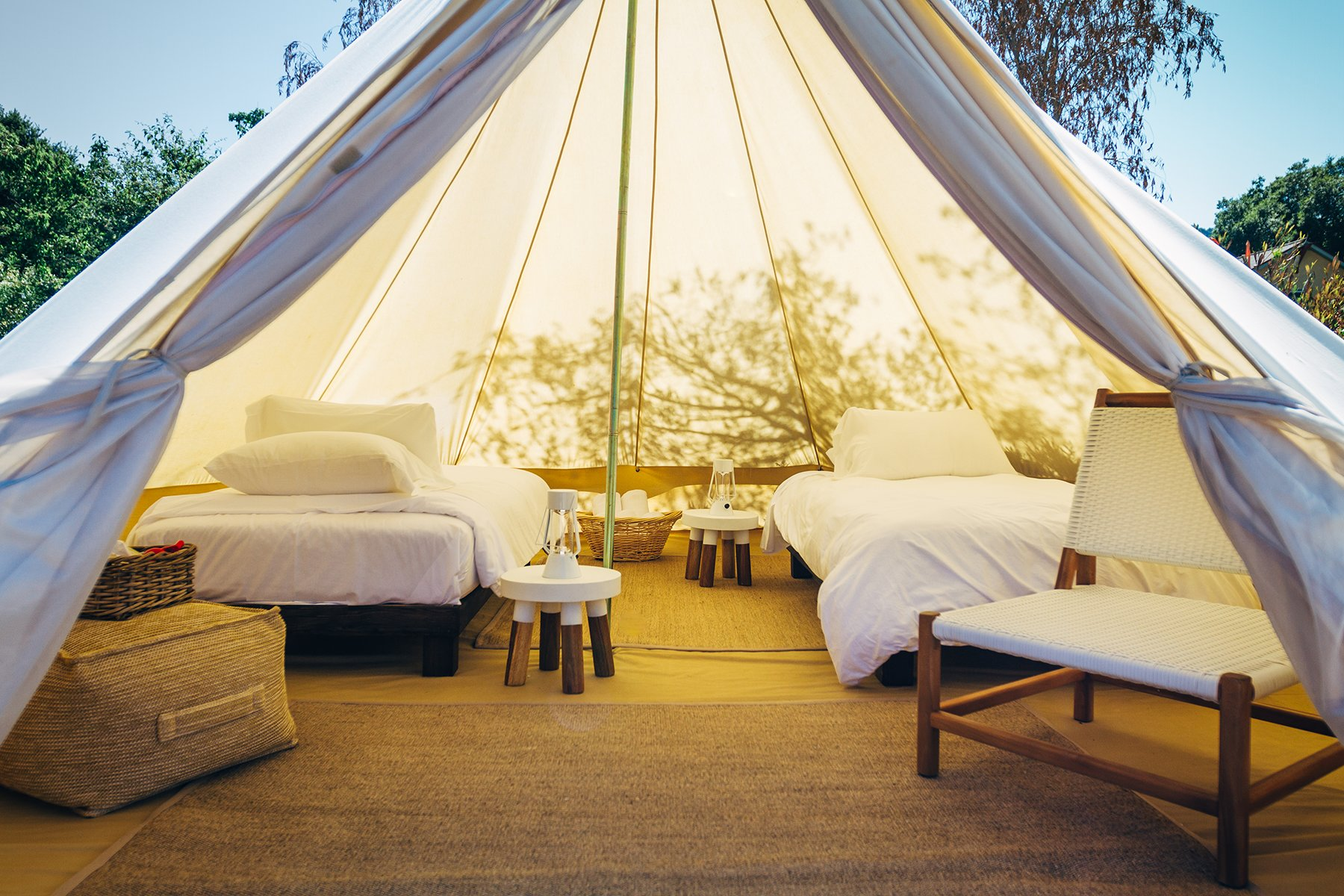 Bell Tent Rentals Near San Francisco California