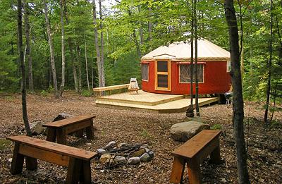 Family Yurt Near Mount Washington Maine
