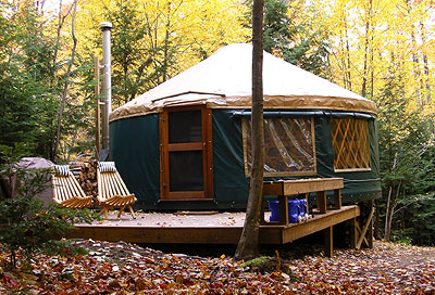 Eco friendly yurt in western maine for Maine eco homes