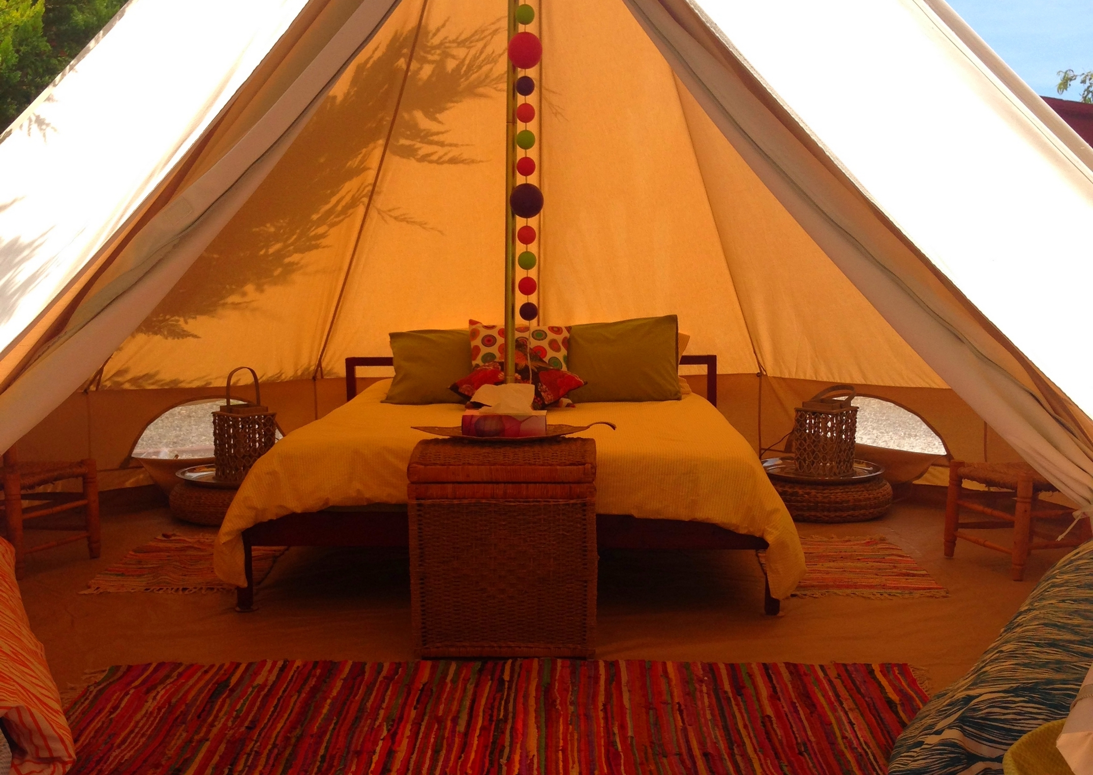 & Bell Tent Camping in Malaga Spain