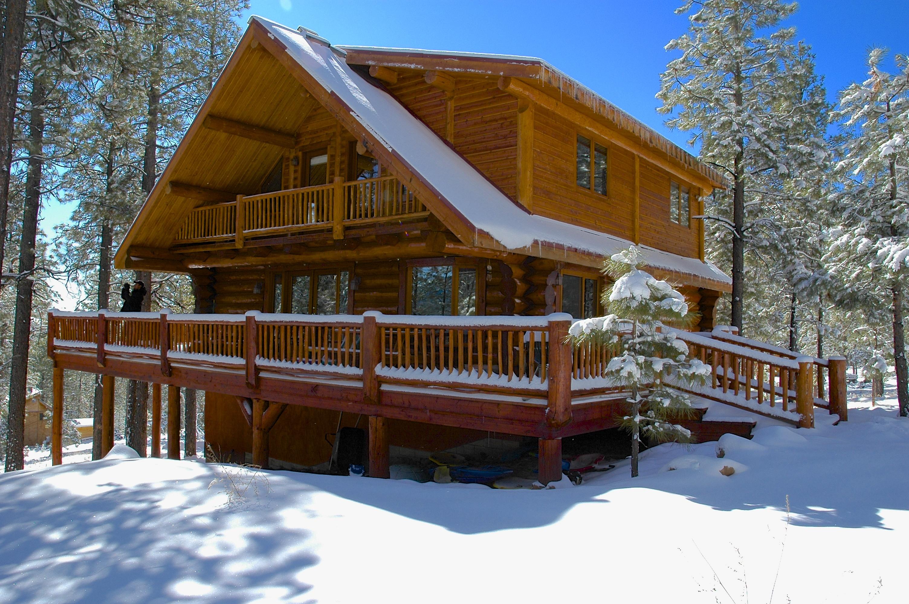 Log cabin rental near sedona for Cabin in sedona az