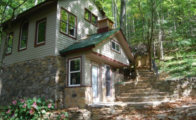 Eco friendly cabin rental in the smoky mountains north Smoky mountain nc cabin rentals