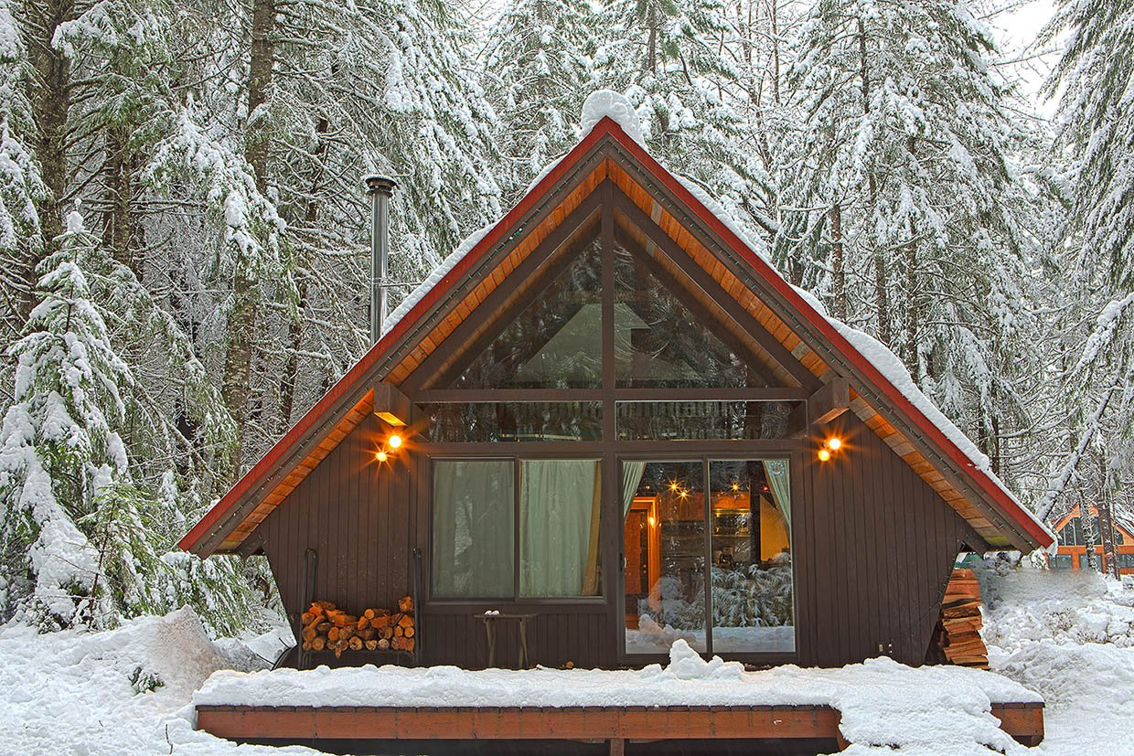 A frame cabin near tacoma for A frame cabin builders