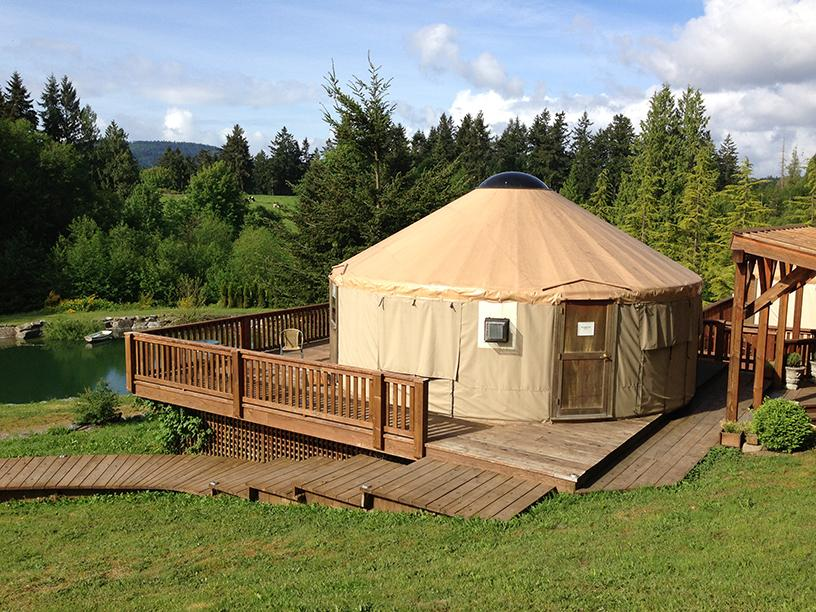 Couples Yurt Rental In Vancouver Island