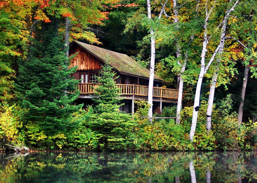 Log cabin rental near saratoga for Log cabin resorts