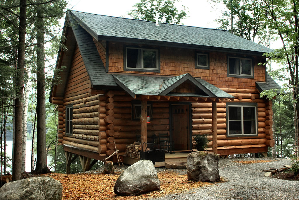 Log cabin rental near lake placid for Cheap cottages