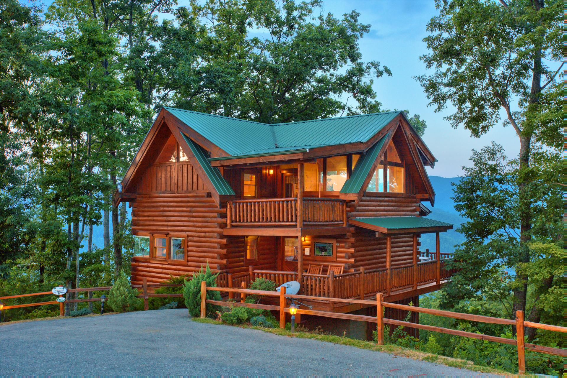 smoky dreams resort mountain a cabins two for rentals view gatlinburg luxury cabin