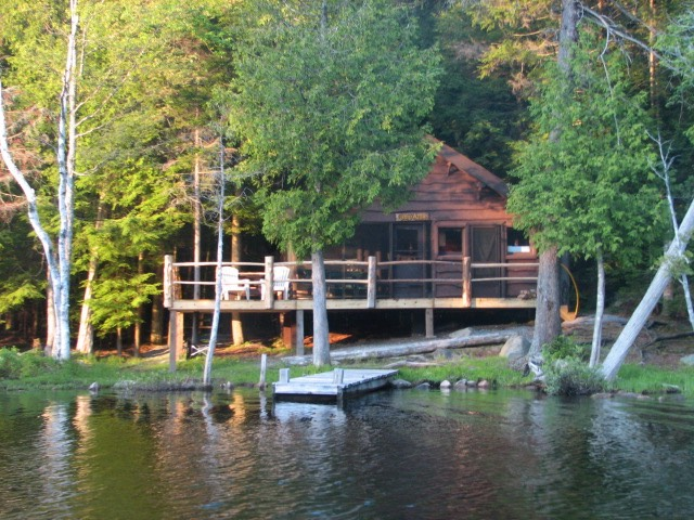 Spacious lakefront cabin with private dock in upstate new for New york cabin