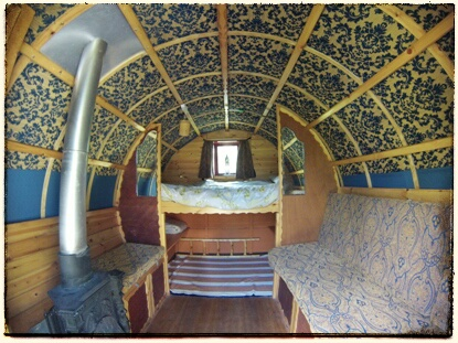 Whimsical Gypsy Caravans In A Woodland Forest In Ambleside