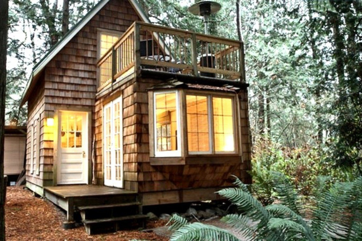Frame log cabins for sale in washington state prefab tiny for Build on your lot washington state