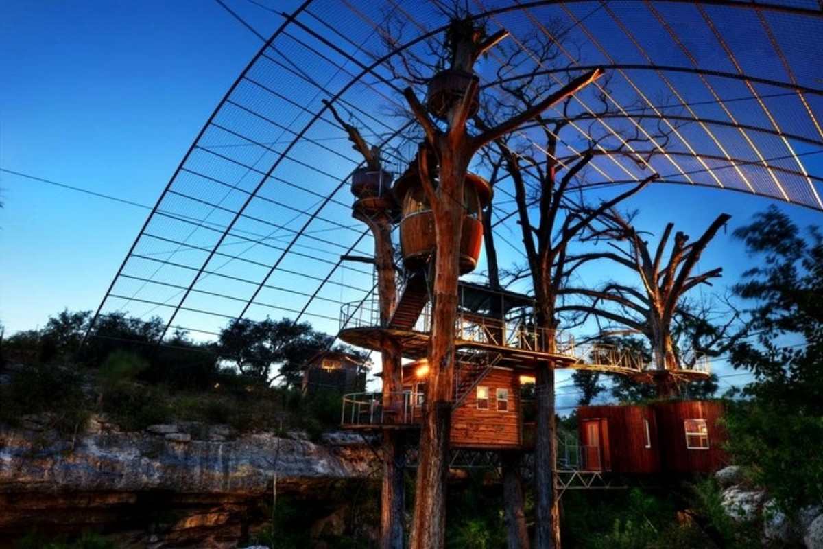 Cool Tree House Hotels in Texas
