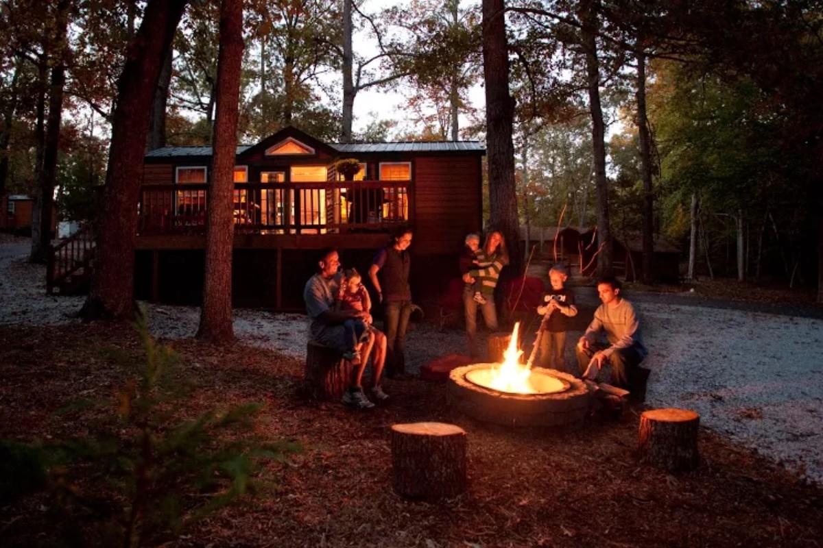 luxury camping cabins near williamsburg virginia