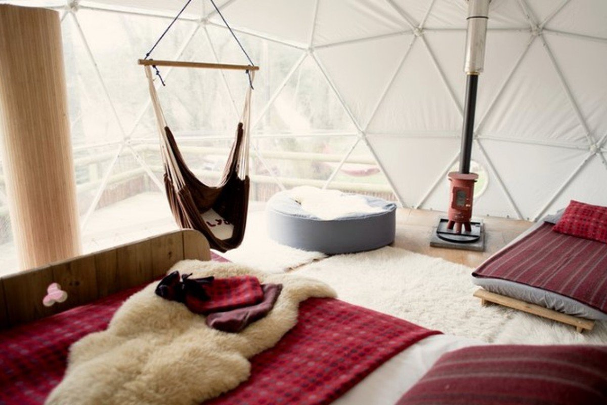 Luxury Dome Camping in Wales