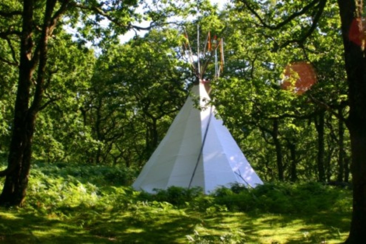 Luxury Tipi Camping in the UK