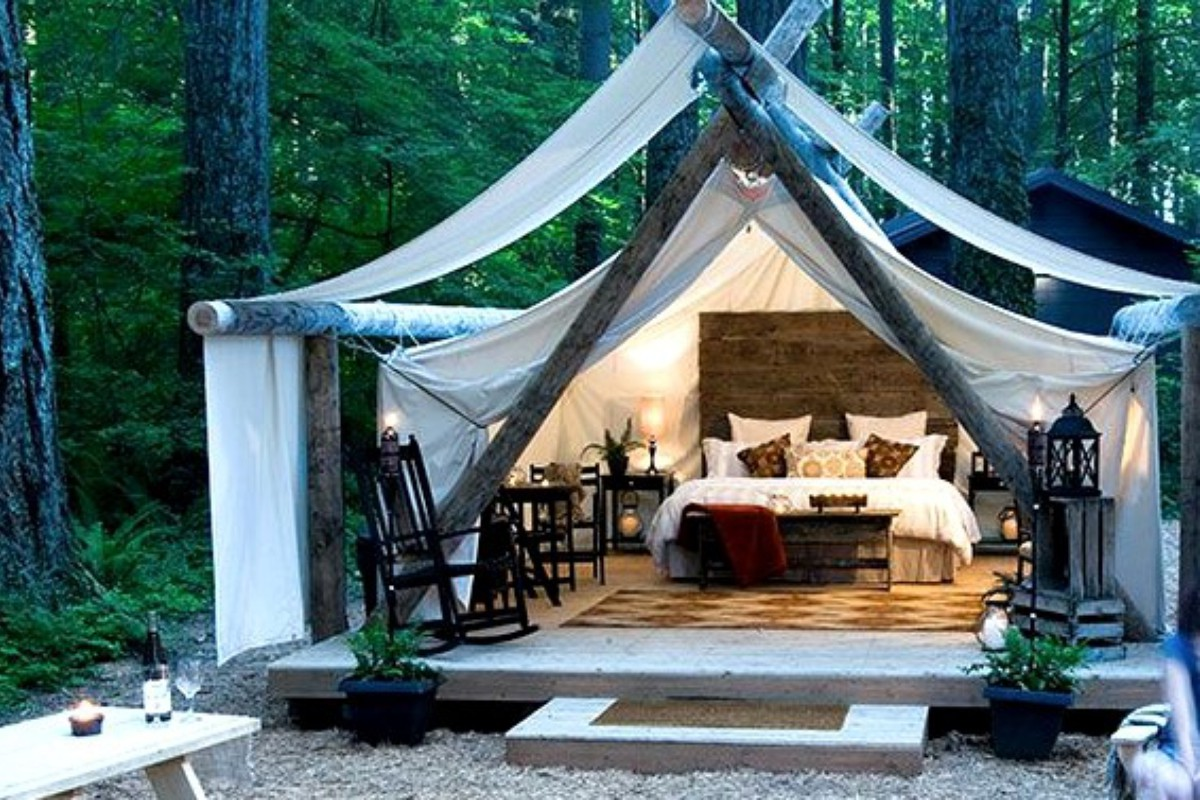 & Luxury Tent and Yurt Camping near Snoqualmie Falls