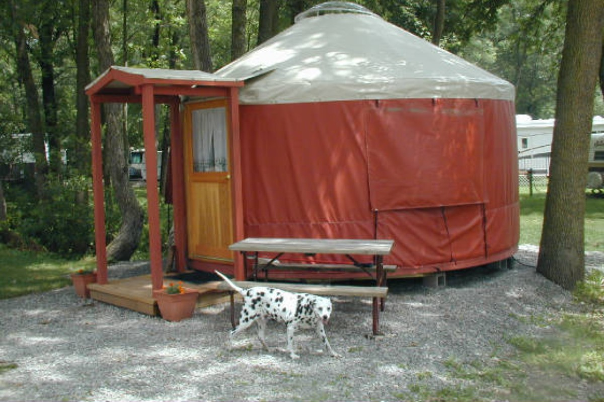 Luxury Yurt Camping in the Midwest