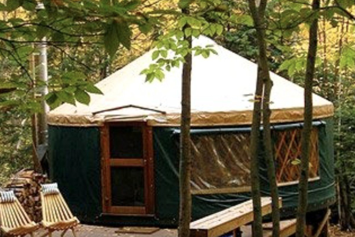 Luxury Yurt Camping near Rangeley Lakes
