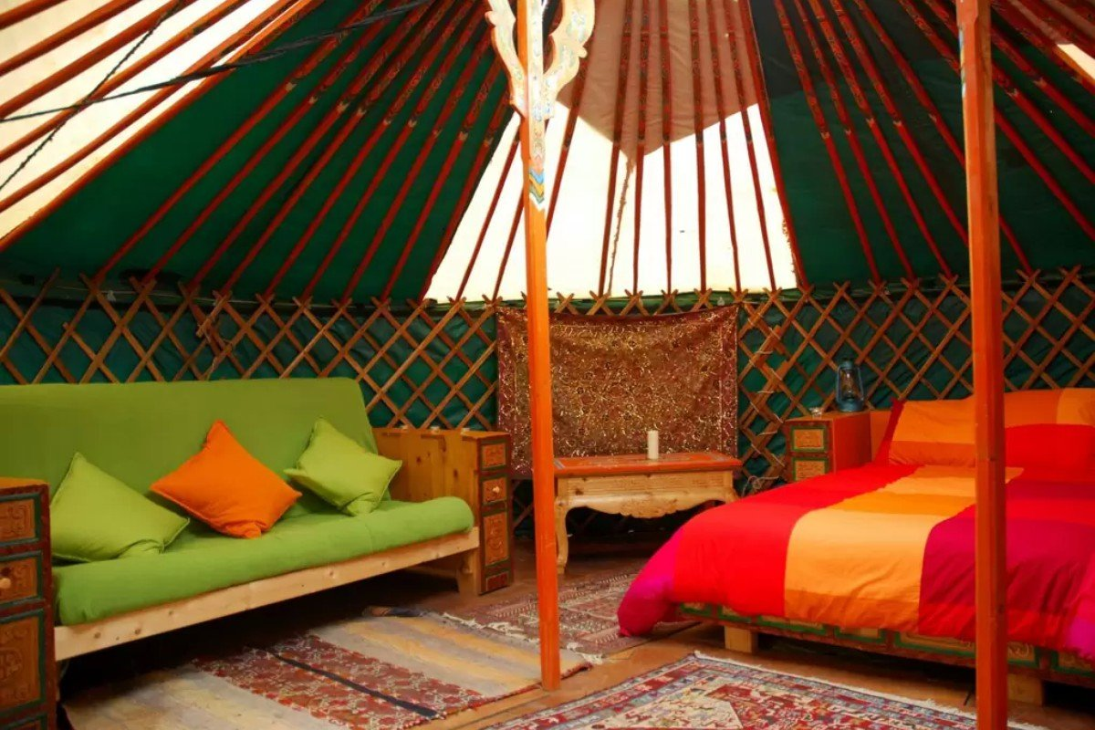 Luxury Yurt Camping in Northern Spain