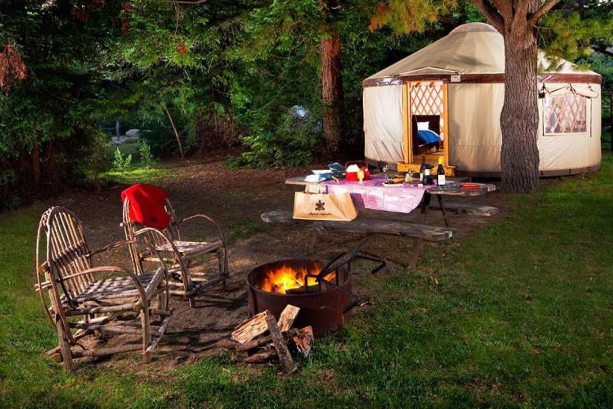 luxury yurt camping on the west coast