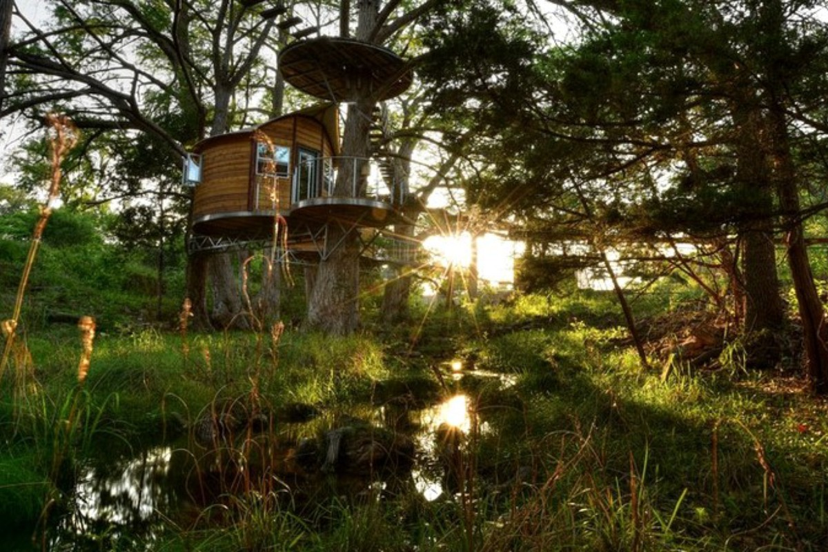 Secluded Tree Houses in Texas