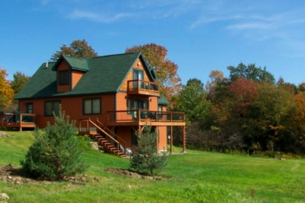 vacation homeaway rent rental secluded cabin salmon cabins best river the rentals log ny