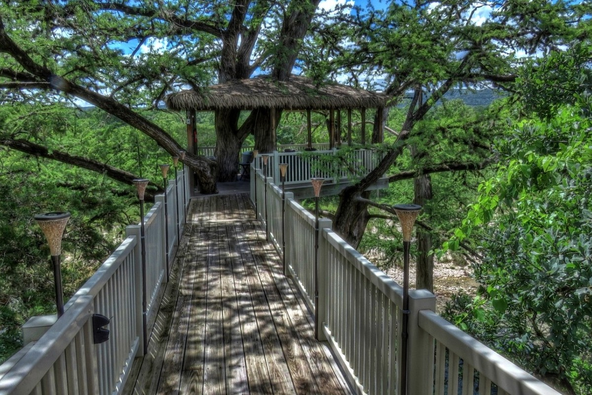 Tree House Camping with Kids in Texas