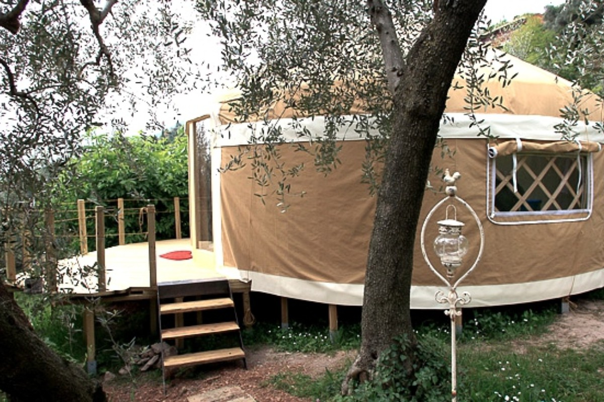 Yurt Camping in Italy