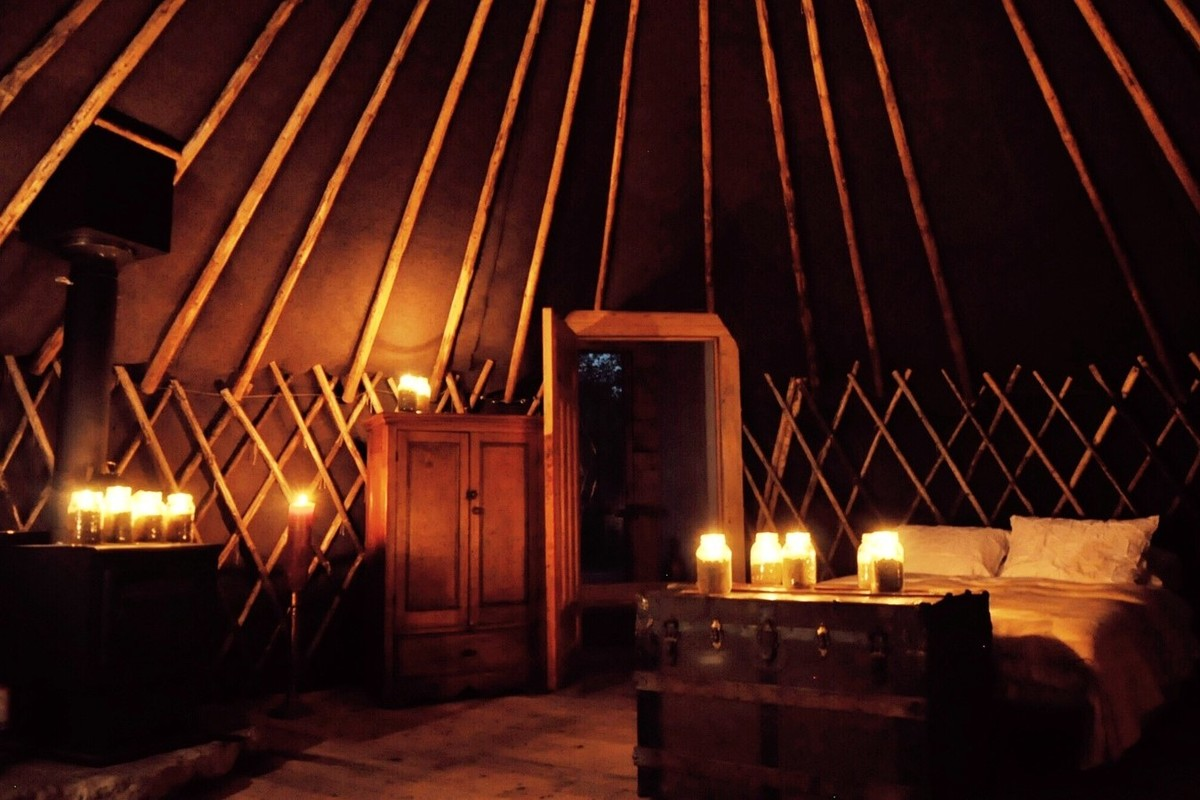 Yurts with Fireplaces in Canada